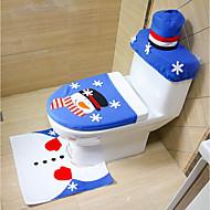 willekeurige stijl vrolijke kerstmis en gelukkig nieuwjaar beste kerstcadeau&kerstversieringen badkamer toilet stoel tapijt