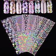 8 Nagelkunst sticker Schitteren Patroon Accessoires Art Deco/Retro Sticker 3D Flitser Cartoon DHZ-benodigdheden make-up Cosmetische