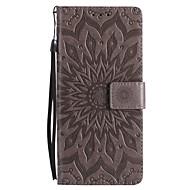 Кейс для Назначение SSamsung Galaxy Note 8 Note 5 Кошелек Бумажник для карт со стендом Флип Рельефный Чехол Цветы Твердый Искусственная