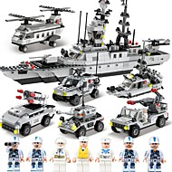 cheap Toys & Hobbies-SHIBIAO Building Blocks Boat Aircraft Carrier Toys Warship Fighter Police Nautical Military DIY Classic Children's Adults' Boys' 1090
