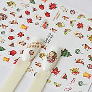 1 Nail Art tarra Kuvio Tarvikkeet Art Deco/Retro 3-D Joulu Piirretty DIY-tarvikkeet Tarra meikki Kosmeettiset Nail Art Design