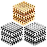 billiga Originella leksaker-216*3 pcs 3mm Magnetleksaker Magnetiska kulor / Byggklossar / Puzzle Cube Metallisk Nutida / Klassisk & Tidlös / Chic och modern Stress och ångest Relief / Office Desk Leksaker / Lindrar ADD, ADHD