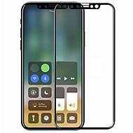 Недорогие Защитные плёнки для экрана iPhone-Защитная плёнка для экрана Apple для iPhone X Закаленное стекло 1 ед. Защитная пленка на всё устройство 3D закругленные углы Защита от