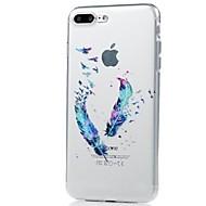 Назначение iPhone X iPhone 8 Чехлы панели Ультратонкий С узором Задняя крышка Кейс для  Перья Мягкий Термопластик для Apple iPhone X