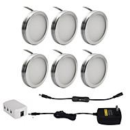 お買い得  -ONDENN 1セット 2W 1800lm 18 LED 装飾用 キャビネット用ライト 温白色 クールホワイト AC85-265V