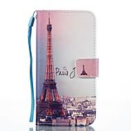 Кейс для Назначение SSamsung Galaxy Кошелек Бумажник для карт со стендом Флип С узором Магнитный Чехол Эйфелева башня Твердый