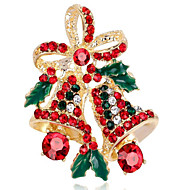 cheap Christmas Jewelry-Women's Synthetic Diamond Brooches - Flower Ladies Brooch Jewelry Gold / Silver For Christmas
