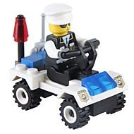 お買い得  -JIESTAR ブロックおもちゃ 36pcs 車 / 軍隊 新デザイン / Non Toxic クラシック パトカー ギフト