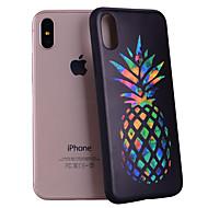 Недорогие Кейсы для iPhone 8 Plus-Кейс для Назначение Apple iPhone X / iPhone 8 С узором Кейс на заднюю панель Фрукты Мягкий Силикон для iPhone X / iPhone 8 Pluss / iPhone 8
