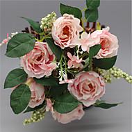 1 ramo de rosas de seda flor de mesa decora flores artificiais