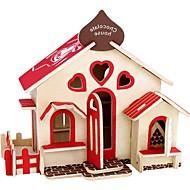 3D-puzzels Houten puzzels Modelbouwsets Speeltjes Huis 3D Huizen Mode Kinderen DHZ Hot Sale Klassiek Mode Nieuw Design 1 Stuks