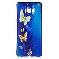Недорогие Чехлы и кейсы для Galaxy Note 8-Кейс для Назначение С узором Задняя крышка Бабочка Мягкий TPU для Note 8 Note 5 Edge Note 5 Note 4 Note 3 Lite Note 3 Note 2 Note Edge