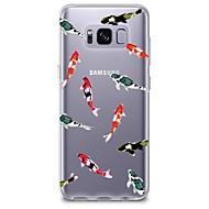voordelige Galaxy S5 Mini Hoesjes / covers-hoesje Voor Transparant Patroon Achterkantje Tegel Zacht TPU voor S8 S8 Plus S7 edge S7 S6 edge plus S6 edge S6 S6 Active S5 Mini S5