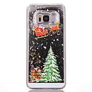 Недорогие Чехлы и кейсы для Galaxy S-Кейс для Назначение SSamsung Galaxy S8 Plus S8 Движущаяся жидкость С узором Кейс на заднюю панель Рождество Твердый ПК для S7 edge S7 S6