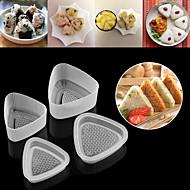 voordelige Keuken Gerei-4pcs keuken bento decoratie sushi onigiri vorm voedselpers driehoekige vorm rijstbalmaker