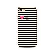 Недорогие Кейсы для iPhone 8 Plus-Кейс для Назначение Apple iPhone X iPhone 8 С узором Кейс на заднюю панель Полосы / волосы С сердцем Мягкий ТПУ для iPhone X iPhone 8