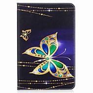carteira de cartão de cartão de borboleta padrão com suporte flip caixa de couro magnético PU para samsung galaxy tab a 8.0 t350 t355