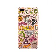 Кейс для Назначение Apple iPhone X iPhone 8 iPhone 8 Plus Прозрачный С узором Задняя крышка Halloween Мягкий TPU для iPhone X iPhone 8