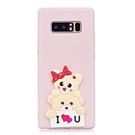 voordelige Galaxy Note-serie hoesjes / covers-hoesje Voor Samsung Galaxy Note 8 Patroon DHZ Achterkantje dier 3D Cartoon Zacht TPU voor Note 8