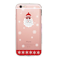 Недорогие Кейсы для iPhone 8 Plus-Кейс для Назначение Apple iPhone X iPhone 8 iPhone 8 Plus Ультратонкий Прозрачный С узором Кейс на заднюю панель Рождество Мягкий ТПУ для