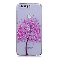 Недорогие Чехлы и кейсы для Huawei Honor-Кейс для Назначение Huawei P9 Lite Huawei Huawei P8 Lite P10 Lite IMD Прозрачный С узором Кейс на заднюю панель Бабочка дерево Мягкий ТПУ