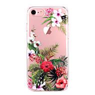 Недорогие Кейсы для iPhone 8-Кейс для Назначение Apple iPhone X iPhone 8 iPhone 8 Plus Ультратонкий Прозрачный С узором Кейс на заднюю панель Цветы Мягкий ТПУ для