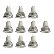 お買い得  LED スポットライト-10個 4W 360lm GU10 LEDスポットライト 4 LEDビーズ ハイパワーLED 調光可能 ホワイト 110-120V