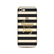 Недорогие Кейсы для iPhone 8-Кейс для Назначение Apple iPhone X iPhone 8 Прозрачный С узором Кейс на заднюю панель Полосы / волосы Слова / выражения Мягкий ТПУ для
