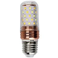 1 pc 6W E27 LED Candle Lights 60 leds SMD 2835 Decorative Warm White White Dual Light Source Color *lm 6000-6500  /3000-3500K AC 85-265V