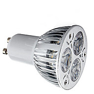 1pc 6w gu10 ledd spotlight 3 high power led 400lm varm vit kall vit dekorativ ac85-265v