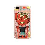 Недорогие Кейсы для iPhone 8 Plus-Кейс для Назначение Apple iPhone X iPhone 8 iPhone 8 Plus Прозрачный С узором Кейс на заднюю панель Halloween Черепа Мягкий ТПУ для