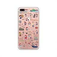 для крышки случая прозрачный тип задняя крышка случая мультфильм мягкий tpu для яблока iphone x iphone 8 плюс iphone 8 iphone 7 плюс