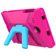Недорогие Чехлы и кейсы для Samsung Tab-Кейс для Назначение SSamsung Galaxy Tab E 8.0 Безопасно для детей Кейс на заднюю панель Сплошной цвет Твердый Этиленвинилацетат для Tab E