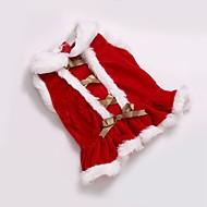 Gato Perro Abrigos Vestidos Ropa para Perro Fiesta Casual/Diario Cosplay Mantiene abrigado Boda Deportes Navidad Año Nuevo Sólido Rojo