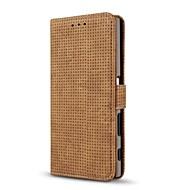 お買い得  携帯電話ケース-ケース 用途 Sony カードホルダー ウォレット スタンド付き フリップ フルボディーケース 純色 ハード PUレザー のために Sony Xperia XZ Sony Xperia X compact Sony