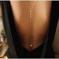 Dame Kvadratisk Zirconium Lariat Y Halskæde - minimalistisk stil, Mode Guld Halskæder Smykker Til Bryllup, Fest