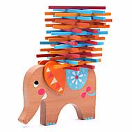 olcso Játékok & hobbi-Építőkockák Fahasáb Játékok Egyensúly Elefánt Fa Állatok Család Barátok Klasszikus 40 Darabok Ajándék
