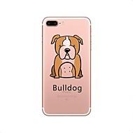 Недорогие Сегодняшнее предложение-Кейс для Назначение iPhone X iPhone 8 Прозрачный С узором Задняя крышка С собакой Мягкий TPU для iPhone X iPhone 8 Plus iPhone 8 iPhone 7
