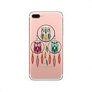 Недорогие Кейсы для iPhone 8 Plus-Кейс для Назначение Apple iPhone X iPhone 8 Прозрачный С узором Кейс на заднюю панель Ловец снов Сова Мягкий ТПУ для iPhone X iPhone 8