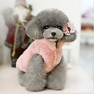 Kat Hond Kerstmis Hondenkleding Jurken en rokken Casual/Dagelijks Opwarm Kleding Halloween Effen Beige Fuchsia Roze Kostuum Voor