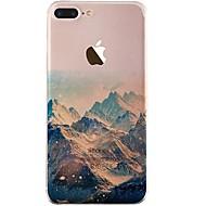 Недорогие Кейсы для iPhone 8-Кейс для Назначение iPhone X iPhone 8 Ультратонкий Прозрачный С узором Задняя крышка Пейзаж Мягкий TPU для iPhone X iPhone 8 Pluss iPhone