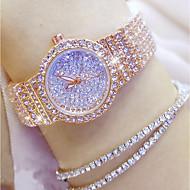 billige Modeure-Dame Quartz Diamantbelagt ur Japansk Afslappet Ur Rustfrit stål Bånd Vedhæng Unikke kreative ur Mode Sølv Guld Rose Guld