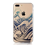 Недорогие Кейсы для iPhone 8-Кейс для Назначение Apple iPhone X iPhone 8 iPhone 8 Plus Ультратонкий Прозрачный С узором Задняя крышка Пейзаж Мягкий TPU для iPhone X