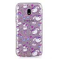 olcso Galaxy J3(2016) tokok-Case Kompatibilitás Samsung Galaxy J7 (2017) J3 (2017) IMD Átlátszó Minta Hátlap Egyszarvú Rajzfilm Puha TPU mert J7 (2017) J7 (2016) J7