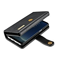 Недорогие Чехлы и кейсы для Galaxy S7-Кейс для Назначение SSamsung Galaxy S8 Plus / S7 edge Кошелек / Бумажник для карт / Флип Чехол Сплошной цвет Твердый Настоящая кожа для S8 Plus / S8 / S7 edge