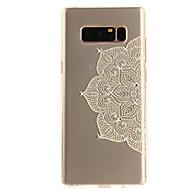 Case Kompatibilitás Note 8 Strassz Ultra-vékeny Átlátszó Minta Hátlap csipke nyomtatás Puha TPU mert Note 8 Note 5 Edge Note 5 Note 4