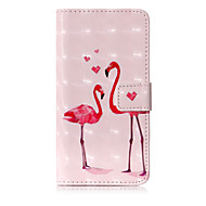 Недорогие Кейсы для iPhone 8-Кейс для Назначение Apple iPhone X iPhone 8 Бумажник для карт Кошелек со стендом Флип С узором Чехол Фламинго Твердый Кожа PU для iPhone