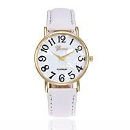 Недорогие Мужские часы-Муж. Жен. Наручные часы Модные часы Кварцевый Повседневные часы Кожа Группа Кулоны Черный Белый Синий Красный Коричневый Розовый