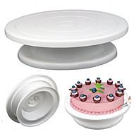 28cm κέικ κουζίνας διακόσμηση κεραμιδιών περιστρεφόμενο πλακιδίων κέικ πλαστικό πλαστικό εργαλείο ψησίματος