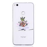 voordelige Telefoon hoesjes-hoesje Voor Huawei P8 Lite (2017) P10 Lite Transparant Patroon Achterkantje Fruit Zacht TPU voor Huawei P10 Lite Huawei P10 Huawei P9